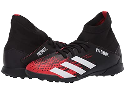 adidas Kids Predator 20.3 TF J Soccer (Little Kid/Big Kid) (Black/White/Active Red) Kids Shoes