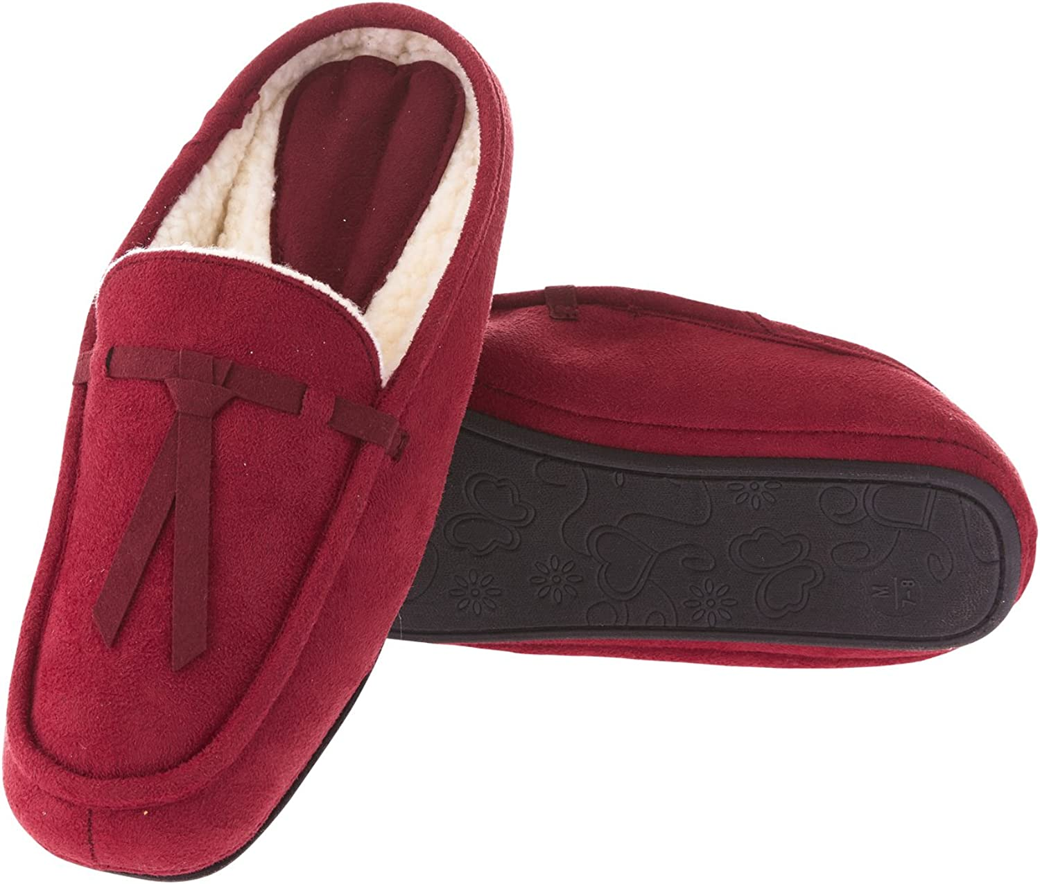 Seranoma Women's Moccasin Slippers  House Slippers,Soft and Comfortable,Faux Fur