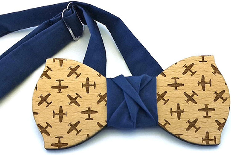 GIGLI BOTTEGA Wooden bow tie - Italian Handmade Adjustable Bowtie Gift - For Wedding Anniversary Birthday party