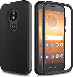 AMENQ Moto E5 Cruise Case, Moto E5 Play/Moto E5 Go Case Hybrid Heavy Duty Shockproof with Rugged Hard PC and TPU Bumper Protective Armor Phone Cover for Motorola Moto E Play (5th Gen) 2018 (Black)