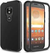 AMENQ Moto E5 Cruise Case, Moto E5 Play/Moto E5 Go Case Hybrid Heavy Duty Shockproof with Rugged Hard PC and TPU Bumper Protective Armor Phone Cover for Motorola Moto E Play (5th Gen) 2018 (Black)
