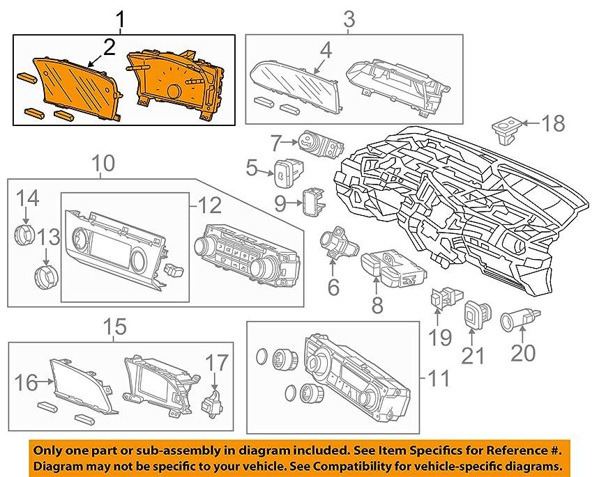 Honda Genuine 78200-TR6-A01 Combination Meter Assembly
