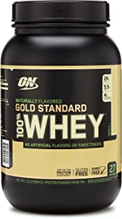 OPTIMUM NUTRITION GOLD STANDARD 100% Whey Protein Powder, Naturally Flavored Vanilla, 1.9 Pound