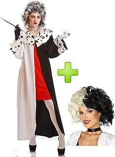 Disfraces Halloween Disfraz de mujer Cruel con peluca: Amazon.es ...