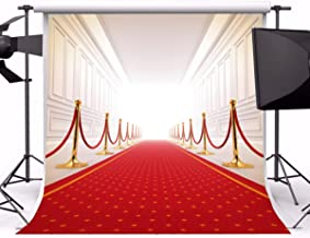 8x8FT Laeacco Photography Vinyl Backdrop Luxury Wedding Aisle Hall Red Carpet Swanky Palace Ceremony Party Celebrating Festival Bride Girls Photo Backdrop Studio Props