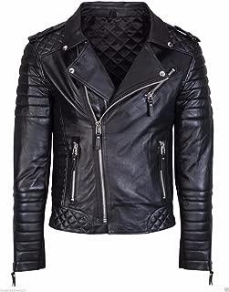 Koza Leathers Men's Genuine Lambskin Leather Jacket KP005