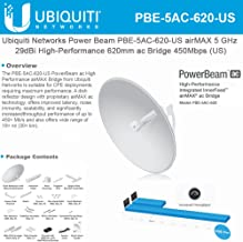 Ubiquiti Networks airMAX 5 GHz PowerBeam ac, PBE-5AC-620 (CPE with 29 dBi antenna, 450+ Mbps)