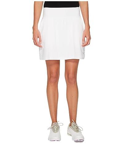 PUMA Golf PWRSHAPE Solid Knit Skirt (Bright White) Women