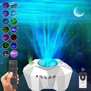 【進化版】JOAYUCEE LED スタープロジェクターライト オーロラ 星空ライト プラネタリウム 家庭用 本格的 21種点灯モード Bluetooth5.0 スピーカ 北極光 星空プロジェクターライト ベッドサイドランプ リモコン・タイマー...
