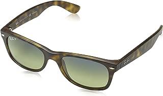 RB2132 New Wayfarer Polarized Sunglasses, Matte Havana/Polarized Green Gradient, 52 mm
