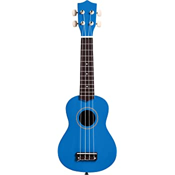 Amazon Basics Starter Ukulele Bundle with Strings, Tuner, Strap, and Bag - 21-Inch Basswood, Blue