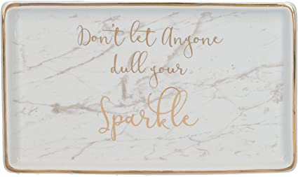 Creative Tops Ava I Don T Let Anyone Dull Your Sparkle Trinket Dish By Creative Tops 18 X 10 5 Cm 7 X 4 Amazon Co Uk Kitchen Home