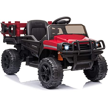 HOMCOM Coche Eléctrico para Niños de +3 Años Todoterreno con 2 Motores Control Remoto 2,4 GHz Batería Recargable 119x64,5x65 cm Rojo