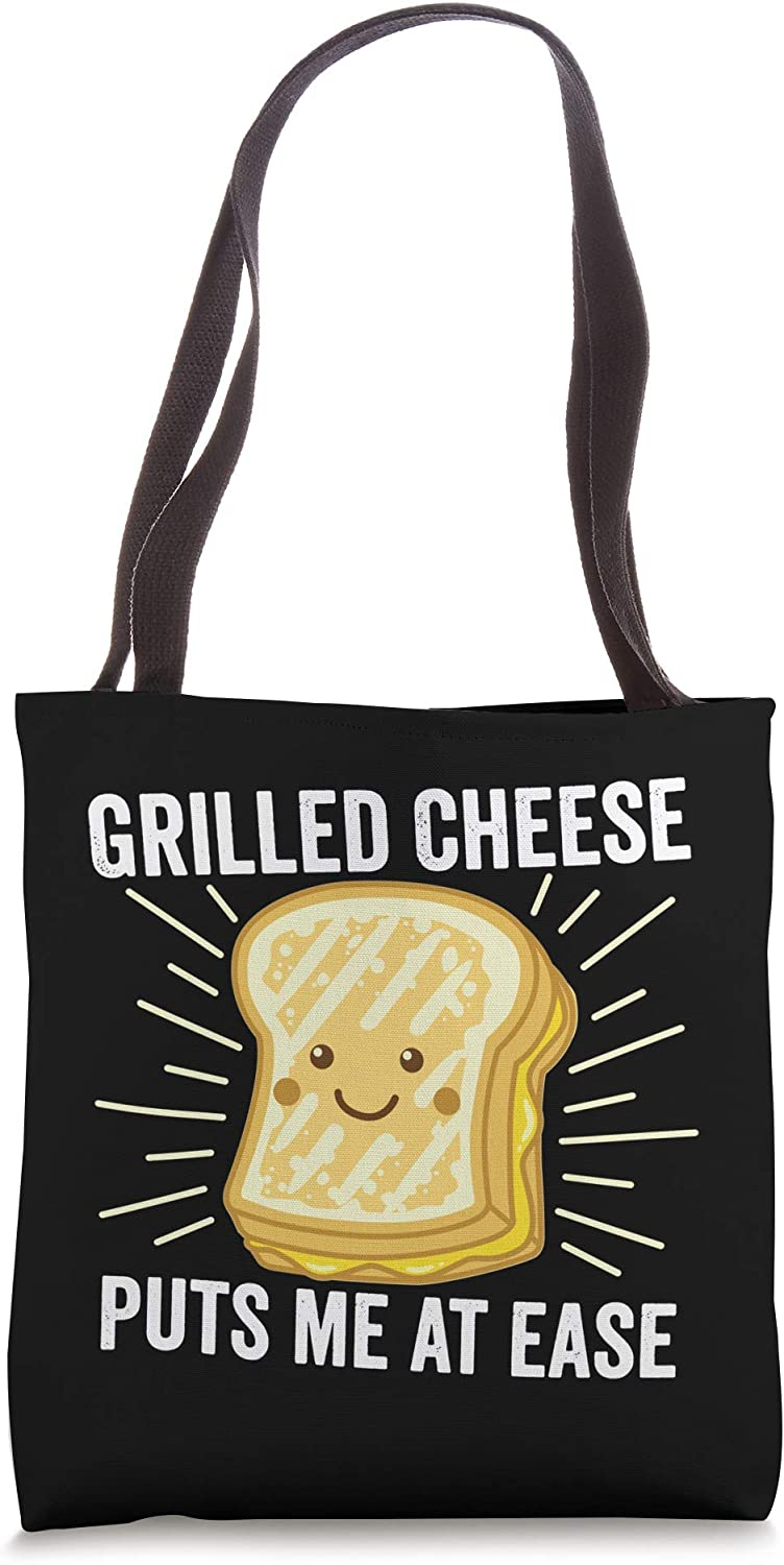 Grilled Cheese Cheesey Comfort Food Sandwich Dark Tote Bag