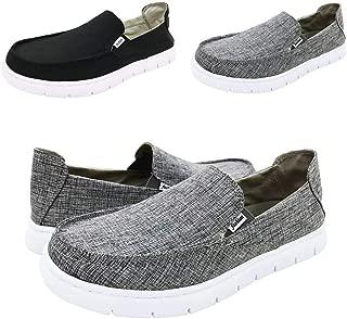 QZX Boat Shoes Men Deck-Canvas-Loafers-Slipon-for Mens Casual Walking Vintage Flat Comfort Shoe