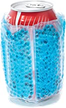 Zees Inc Pocket Bottles Beaded Freezable Can Cooler, Turquoise