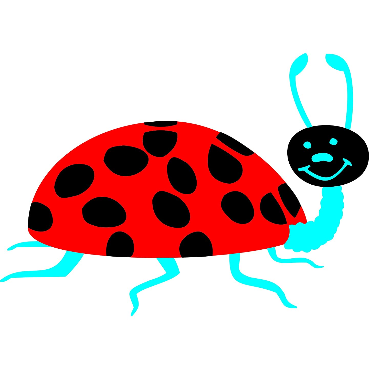 Ladybug Stencil - 6.5 x 4.5 inch (M) - Large Reusable Insect Bug Baby Childs Nursery Wall Stencils for Painting - Use on Paper Projects Walls Floors Fabric Furniture Glass Wood etc.