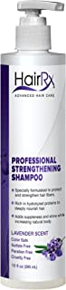 HairRx Professional Strengthening Shampoo with Pump, Luxurious Lather, Lavender Scent, 10 Ounce