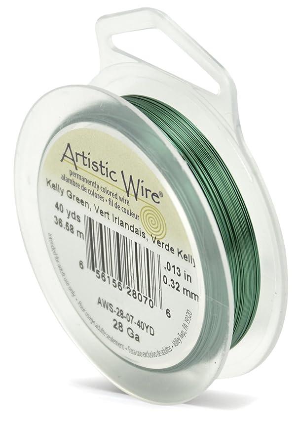 Artistic Wire 28-Gauge Kelly Green Wire, 40-Yards hkzjlqtqubn238