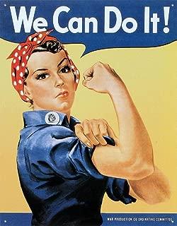 Desperate Enterprises Rosie The Rivetor - We Can Do It Tin Sign, 12.25