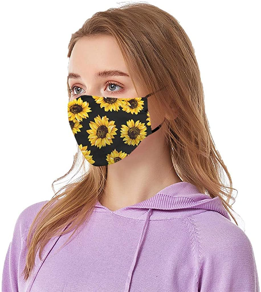1PC+2 Fil-te-rs Adults Printed Breathable Reusable Covering Face