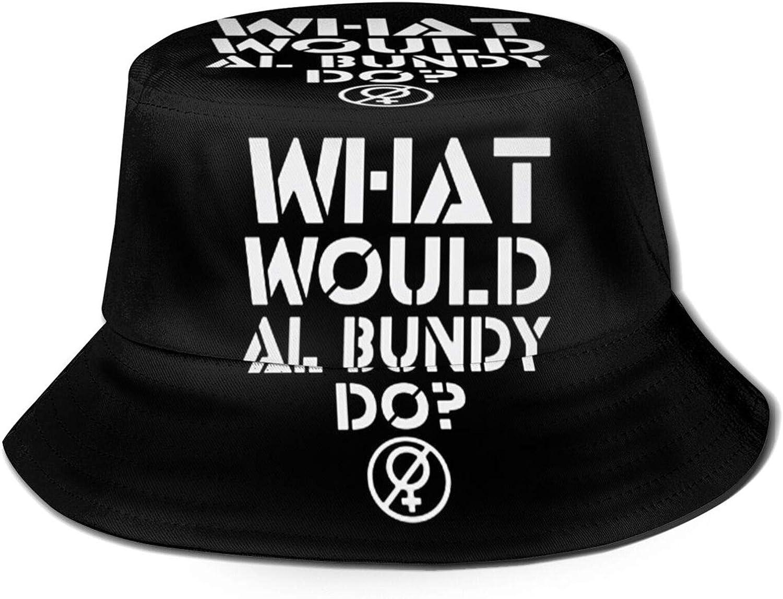 What Would Al Bundy do Bucket Hat Fisherman Summer Autumn Outdoor Packable Hat Beach Travel Sun Hat Black