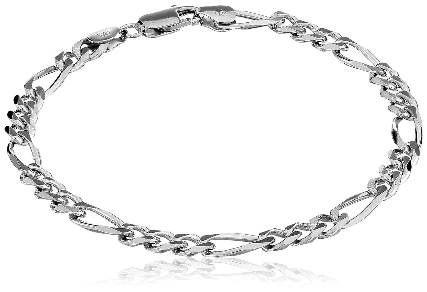 Men's Sterling Silver Italian Link Bracelet