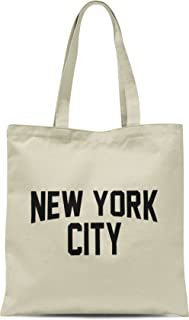 NYC Tote Bag New York City 100% Cotton Canvas Screenprinted Event NYC (Natural)