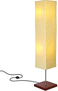 Brightech - Tranquility LED Floor Lamp for Living Rooms & Bedrooms – Mid Century Modern Minimalist, Ambient Light – Perfect for Beside The Bed or Office, Corner Lamp - Havana Brown