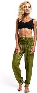 Long Cotton Yoga Harem Pants, Boho Hippie Trousers with Elastic Waistband
