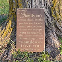 Family Isn't Always Blood Wood Sign Family Wood Sign Wall Hanging Decoration - 8x12 inches