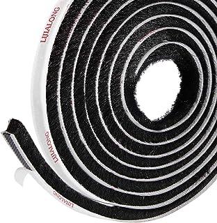 Ferrestock FSKBUR001BK Bas de porte en aluminium avec franges et trous pour visser 1 m Noir