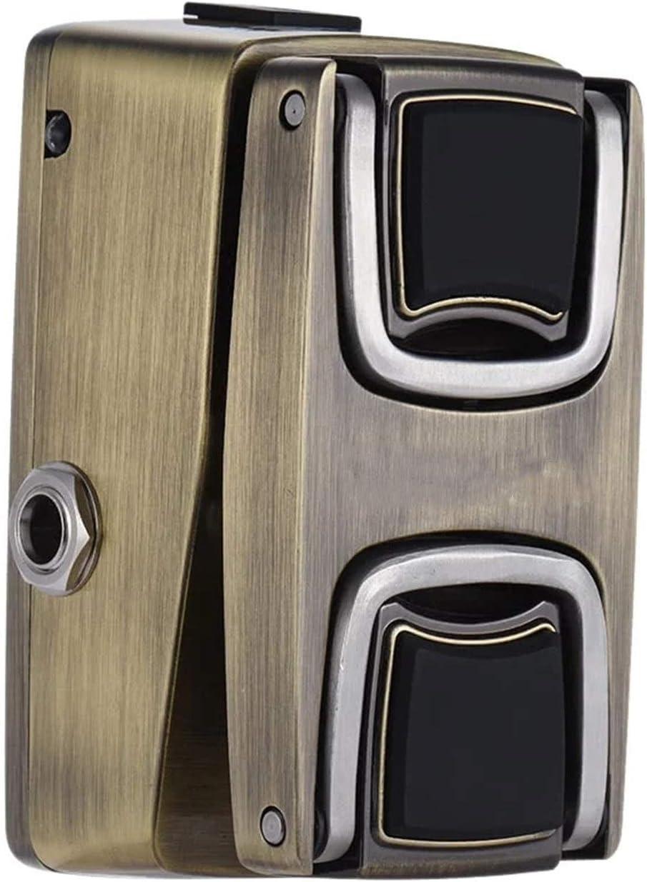 CuteLife Pedal de Guitarra Interruptor de detección de presión de Efecto de Guitarra Interruptor de Metal Completo para Guitarra Eléctrica (Color : As Shown, Size : 4.8 x 9.2 x5cm)