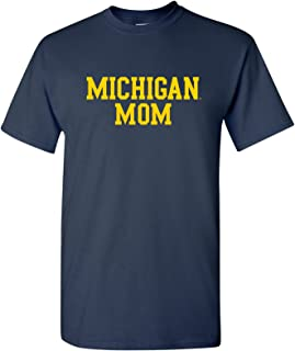NCAA Mom Basic Block, Team Color T Shirt, College, University T-Shirt