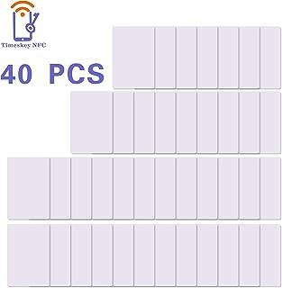 40 x NFC Tags NTAG215 Tarjetas NFC Etiquetas 504 Bytes Memoria NXP Ntag215 Chip de PVC Blanco Puede Hacer Que Amiibo TagMo NFC Cards (TimesKey)
