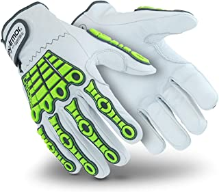 HexArmor Chrome Series 4080 Cut Resistant Leather Work Gloves with Impact Protection, X-Large