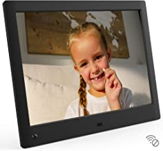 NIX Advance 10 Inch USB Digital Photo Frame - HD IPS Display, Auto-Rotate, Motion Sensor, Remote Control - Mix Photos and Videos in The Same Slideshow