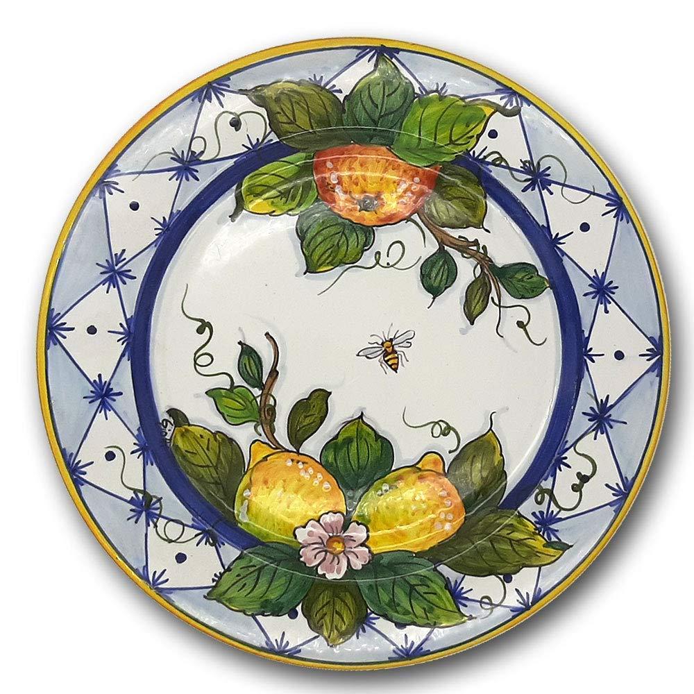 Italian Ceramic dinnerware plate Lemon Orange Max 55% OFF 1 in - Design 2 Cheap super special price 11