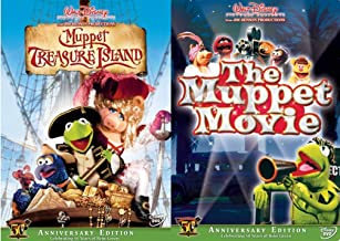 Treasure Ahead the Muppets Double Feature Kermit 50 Years The Original Movie + Treasure Island Jim Henson DVD Frog Miss Pi...