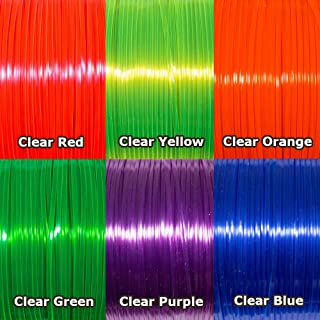 Rexlace Plastic Lacing Multicolor Variety Bundles (6 Pack - Clear Primary)