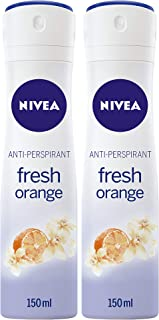 Sponsored Ad – NIVEA Fresh Orange, Deodorant Spray for Women, 2 x 150 ml, 85323