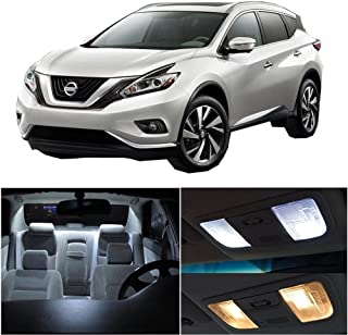 SCITOO 8Pcs White Interior LED Light Package Kit Replacement Bulbs Fits for Nissan Murano 2015-2017