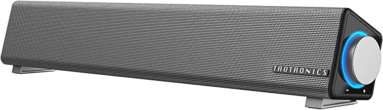 TaoTronics Computer Speakers, Wired Computer Sound Bar, Stereo USB Powered Mini Soundbar Speaker for PC Cellphone Tablets ...