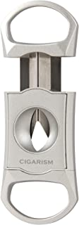 CIGARISM Leaves Engraving Zinc Alloy Cigar Cutter (Vintage Silver)