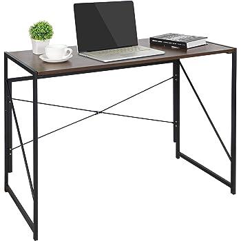 ZenStyle Foldable Writing Computer Desk Home Office PC Laptop Folding Tables Multipurpose Workstation with Solid Steel Frame/Waterproof Desktop