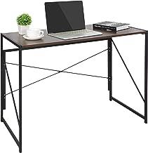 ZenStyle Folding Writing Computer Desk Home Office PC Laptop Table Multipurpose Workstation with Solid Steel Frame/Waterproof Desktop