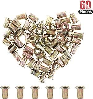 Hilitchi 60 Pcs #8-32 UNC Rivet Nuts Threaded Insert Nut (#8-32 UNC Rivnut)