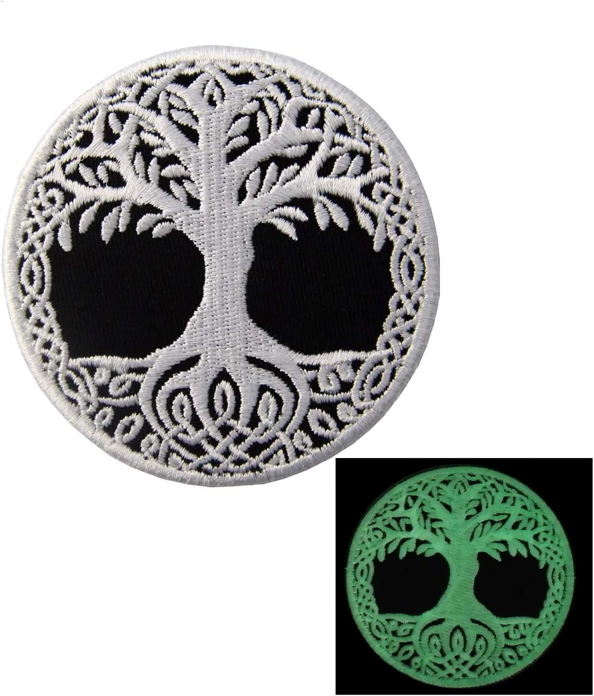 Glow in Free shipping on posting reviews Dark The Tree of shopping Yggdras Norse Eye Life Patch