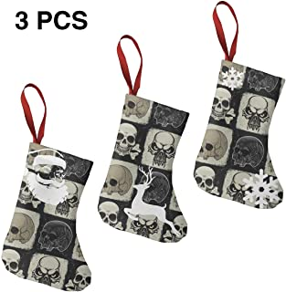 Skull Unisex Novelty Christmas Christmas Socks Fun Colorful Festive 3 Pack
