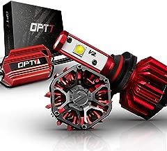 OPT7 Std Kit 6K Cool White FluxBeam Choice 9005 LED Headlight w/Clear ARC-Lens Beam Bulbs-60w 7,000Lm CREE